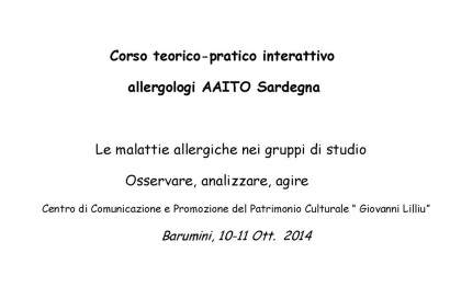 Corso teorico pratico interattivo allergologi AAITO